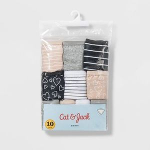 Cat & Jack cotton bikini size 6 - 10 pack